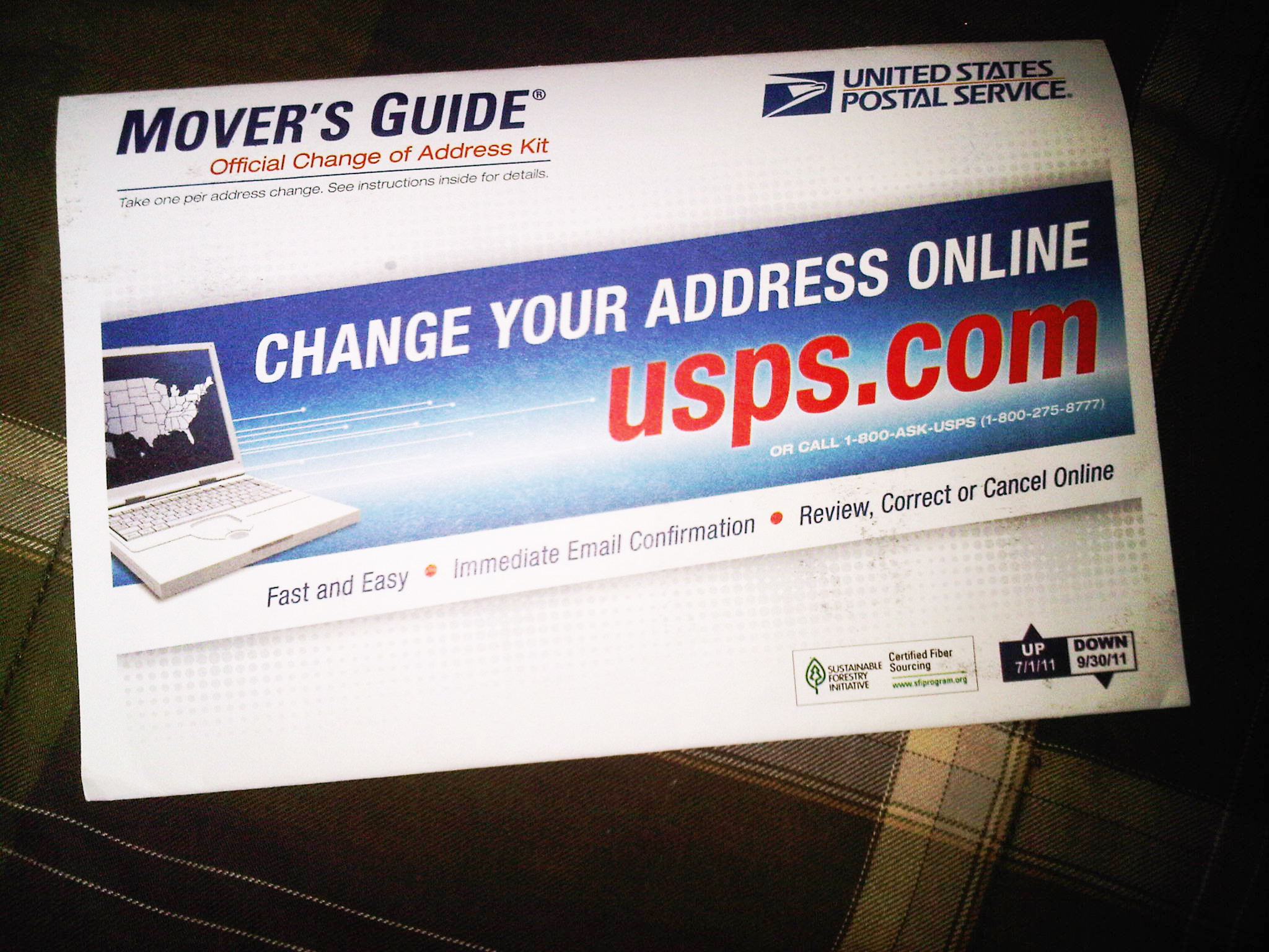 Moving coupons usps