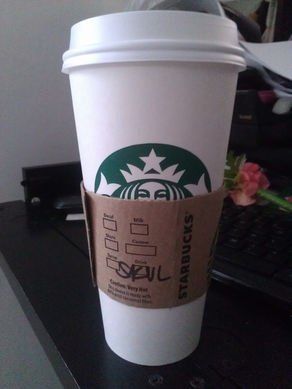 Starbucks skinny vanilla latte pretty missile i get a skinny vanilla latte which is basically the same thing except with less fattening milk or cream it tastes so good sisterspd